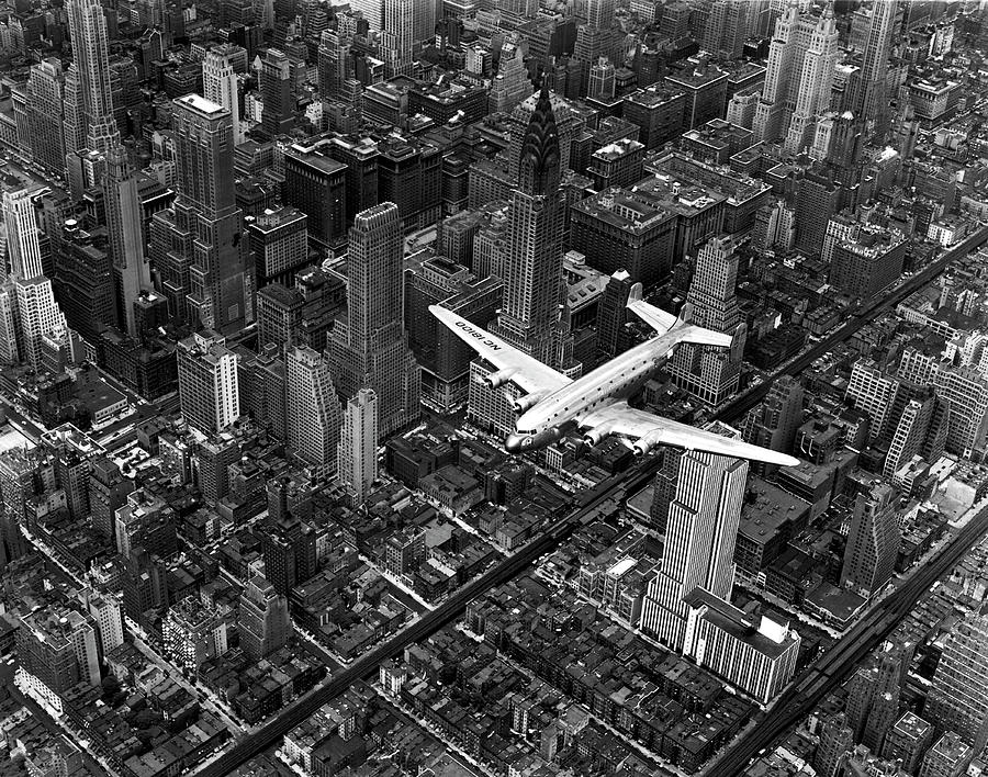 Aerial View Of Airline Passenger Plane Photograph by Margaret Bourke-white