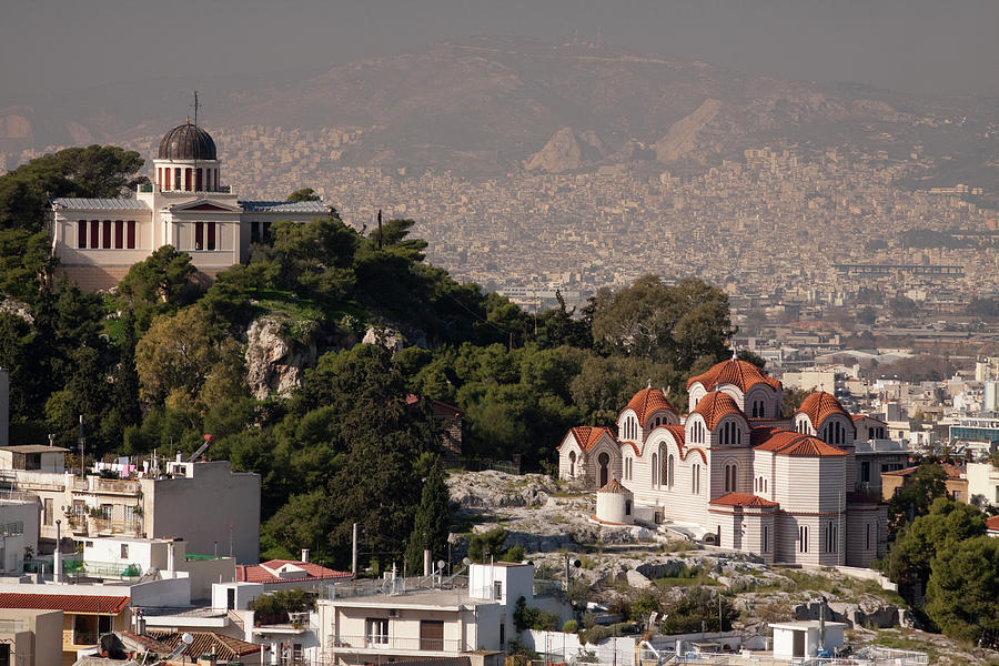 Aerial View Of Athens Photograph by Lingbeek
