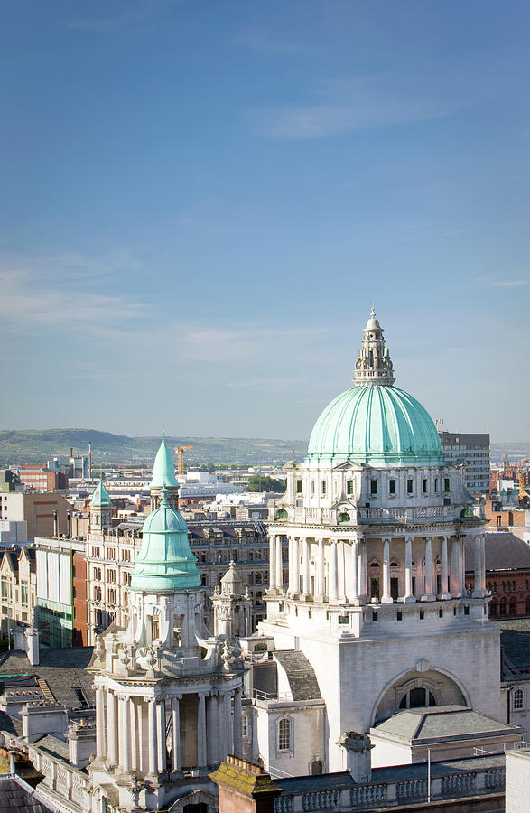 Aerial View Of City Hall, Belfast Photograph by Richardwatson