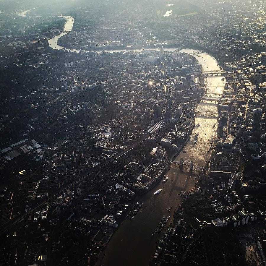 Aerial View Of Cityscape With Thames Photograph by Caspar Schlickum / Eyeem