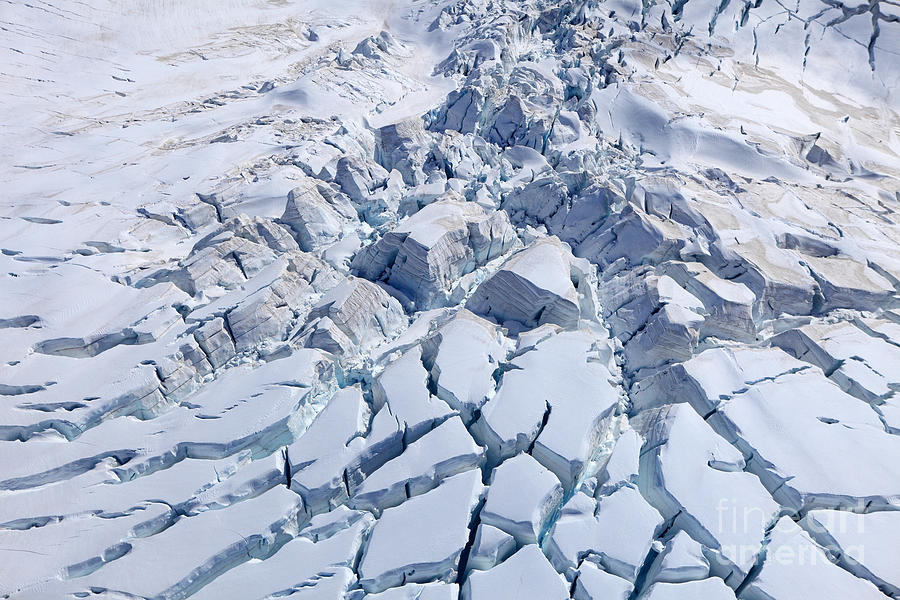 South Photograph - Aerial View Of Franz Josef Glacier From by Jakrit Jiraratwaro