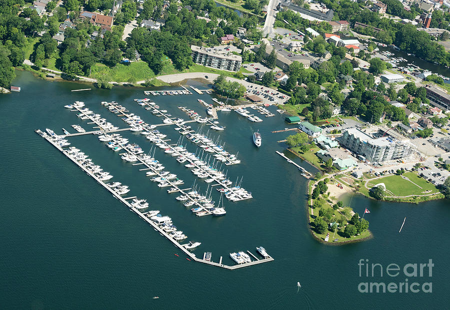 Aerial view of Gananoque Ontario Canada by Louise Heusinkveld