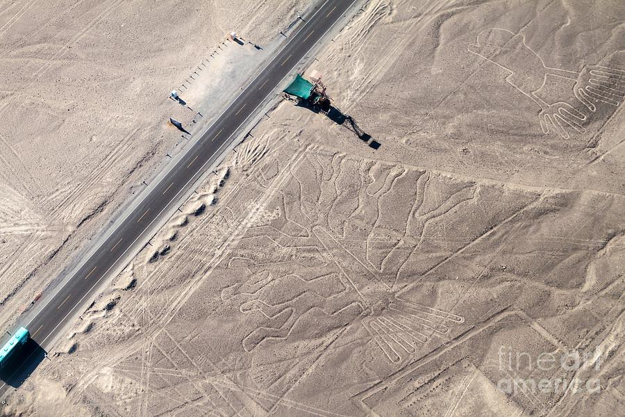 Engraving Photograph - Aerial View Of Geoglyphs Near Nazca - by Matyas Rehak