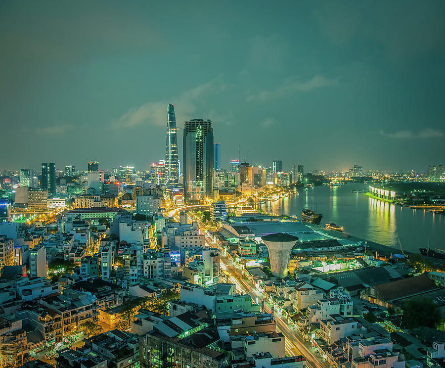 Aerial View Of Ho Chi Minh City Photograph by Fototrav