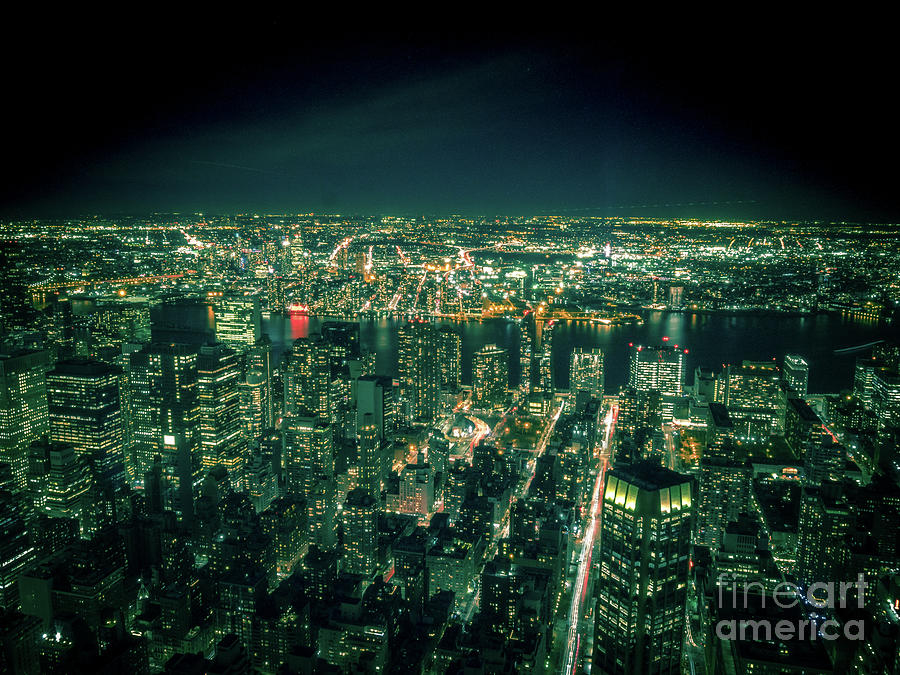 Aerial View of Manhattan Skyline  by PorqueNo Studios