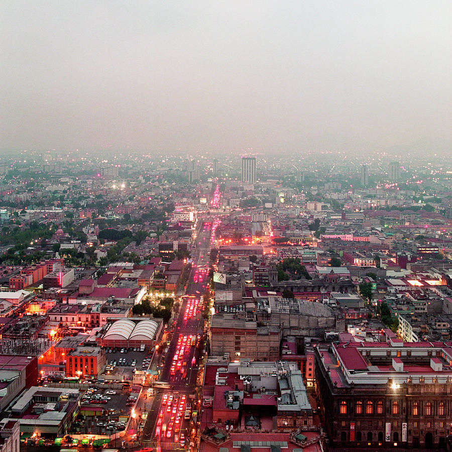 Aerial View Of Mexico City Photograph by Jasper James