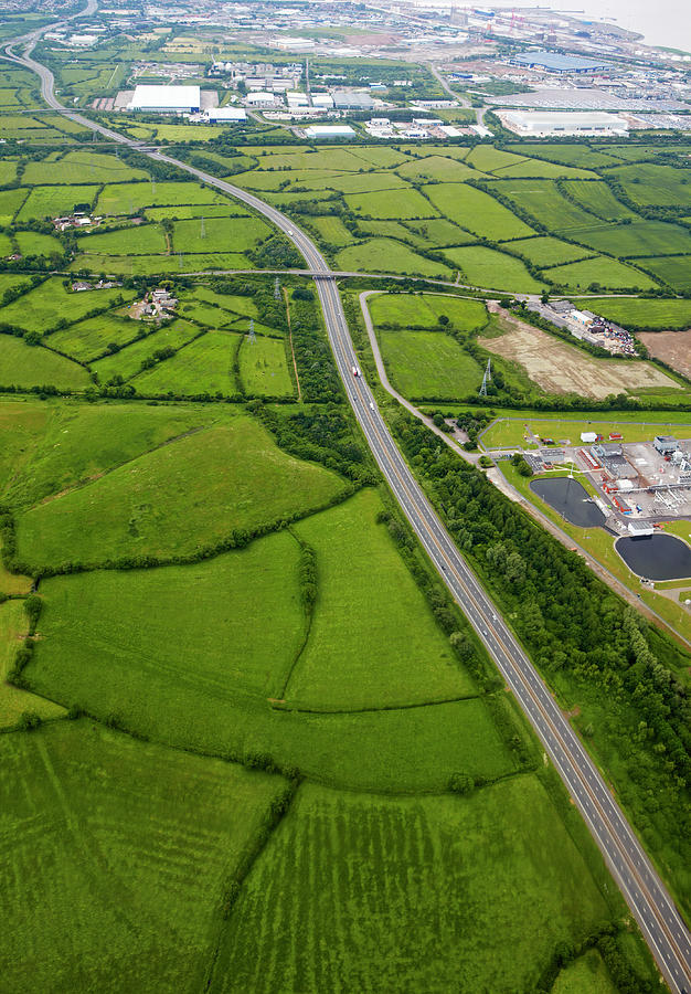 Aerial View Of Motorway Photograph by Allan Baxter