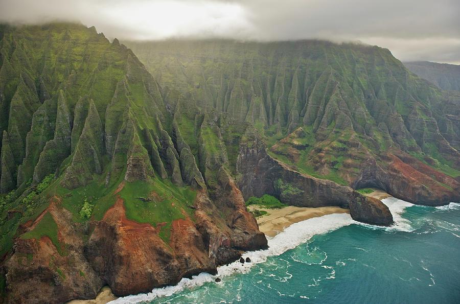 Aerial View Of Na Pali Coast, Kauai Photograph by Enrique R. Aguirre Aves