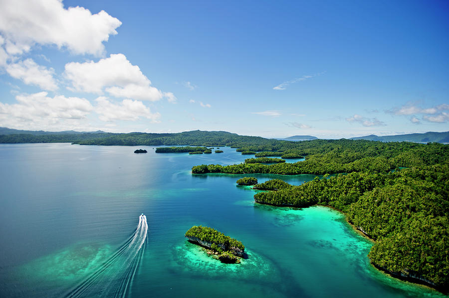 Aerial View Of Raja Ampat Islands With Photograph by James Morgan