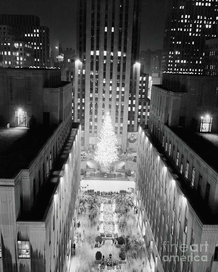 Aerial View Of Rockefeller Center Photograph by Bettmann