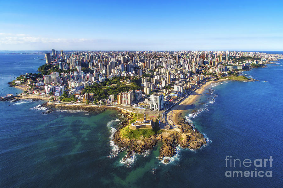 Capital Photograph - Aerial View Of Salvador Da Bahia by R.m. Nunes