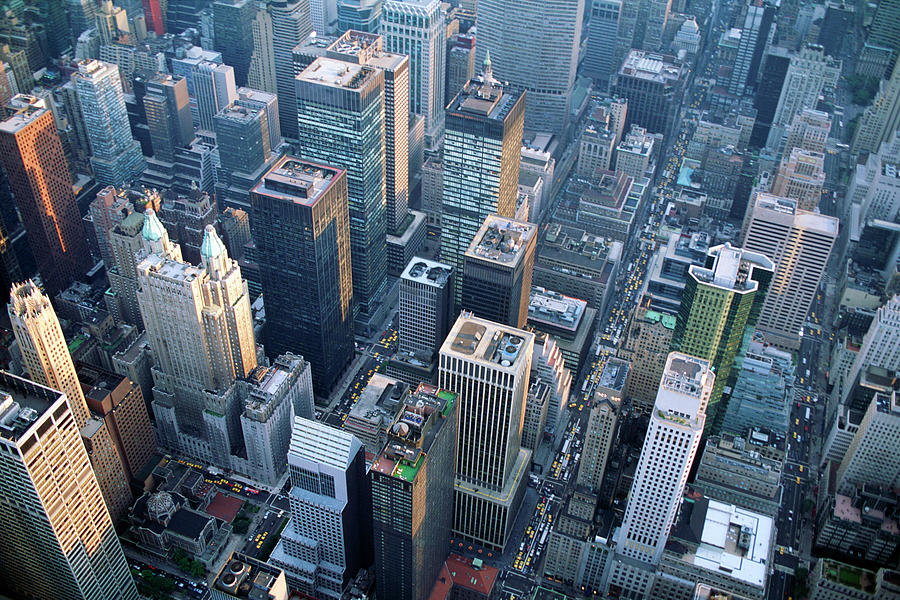 Aerial View Of Skyscrapers In New York Photograph by Jupiterimages