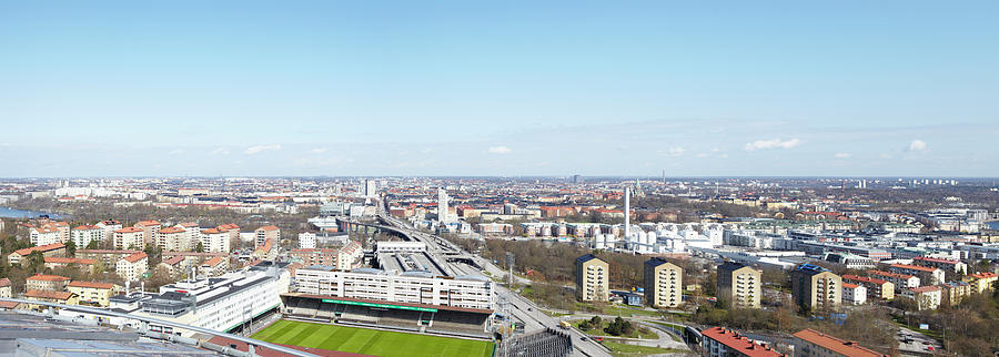 Panoramic Photograph - Aerial View Of Stadium by Johner Images