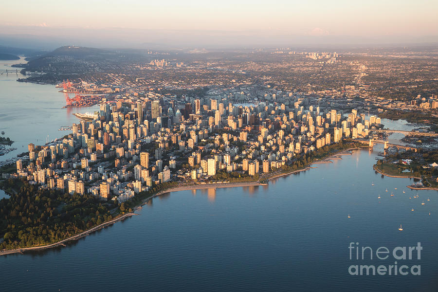 British Columbia Photograph - Aerial View Of Stanley Park by Eb Adventure Photography