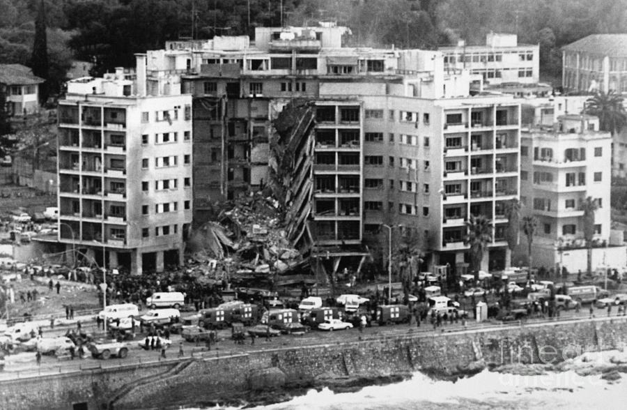 Aerial View Of The Us Embassy In Beirut Photograph by Bettmann