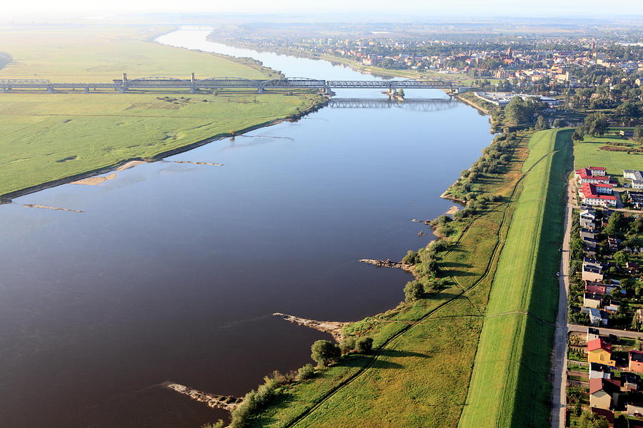Aerial View Of The Vistula River And Photograph by Dariuszpa