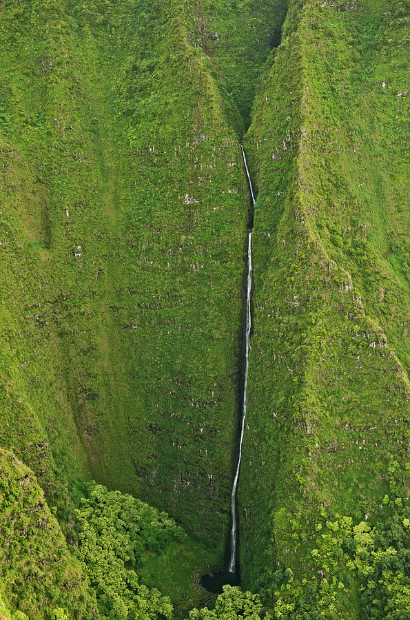 Aerial View Of Waterfall In Narrow Photograph by Enrique R. Aguirre Aves
