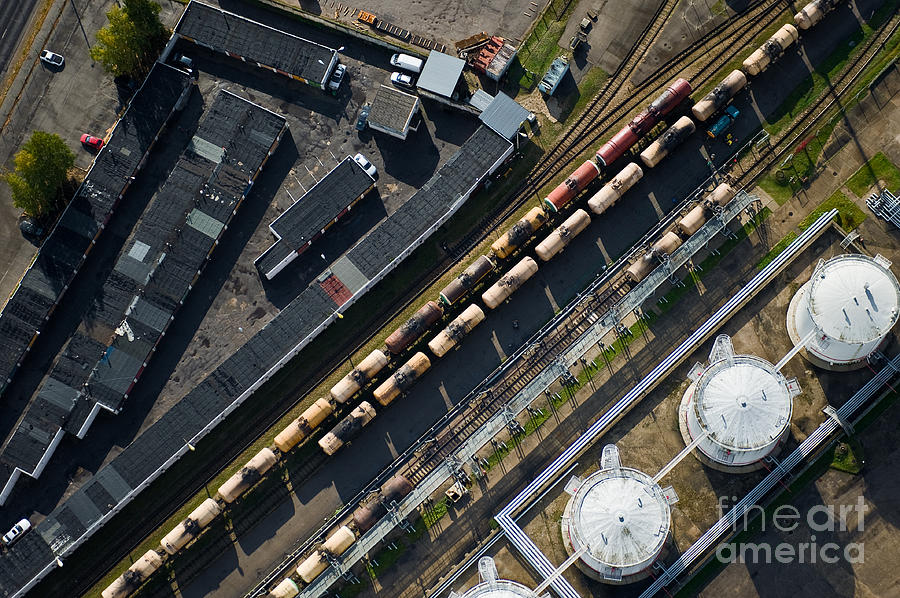 Auto Photograph - Aerial View Over The Railway by Miks Mihails Ignats