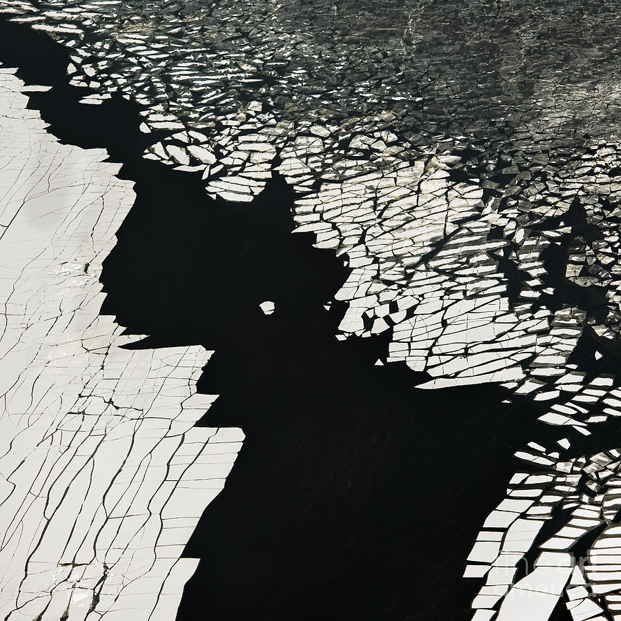 Plane Photograph - Aerial View Over The Surface Of River by Miks Mihails Ignats