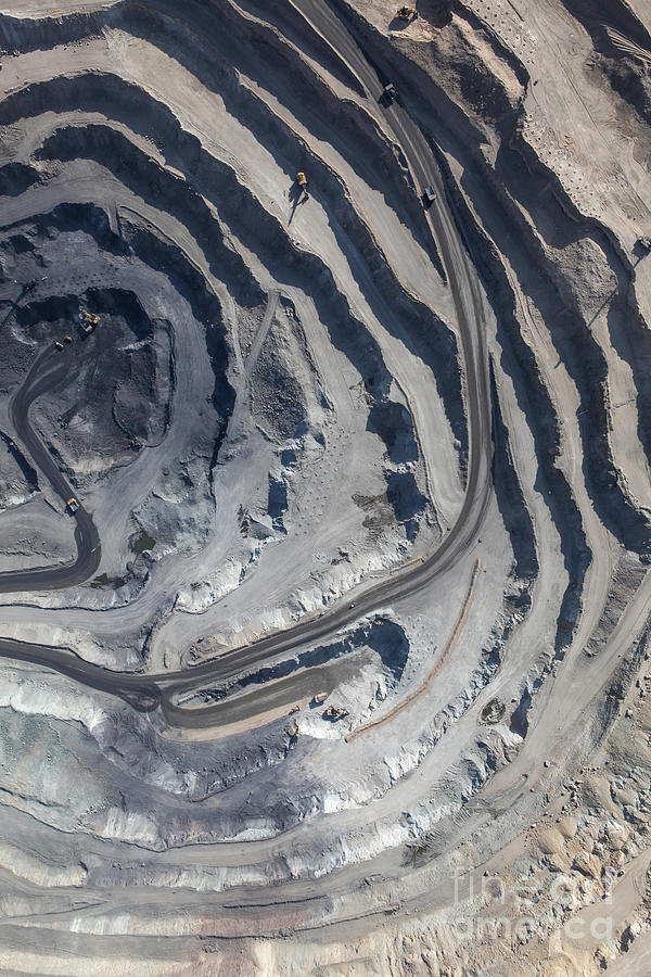 Diamonds Photograph - Aerial View To The Iron Ore Open Mine by M.khebra