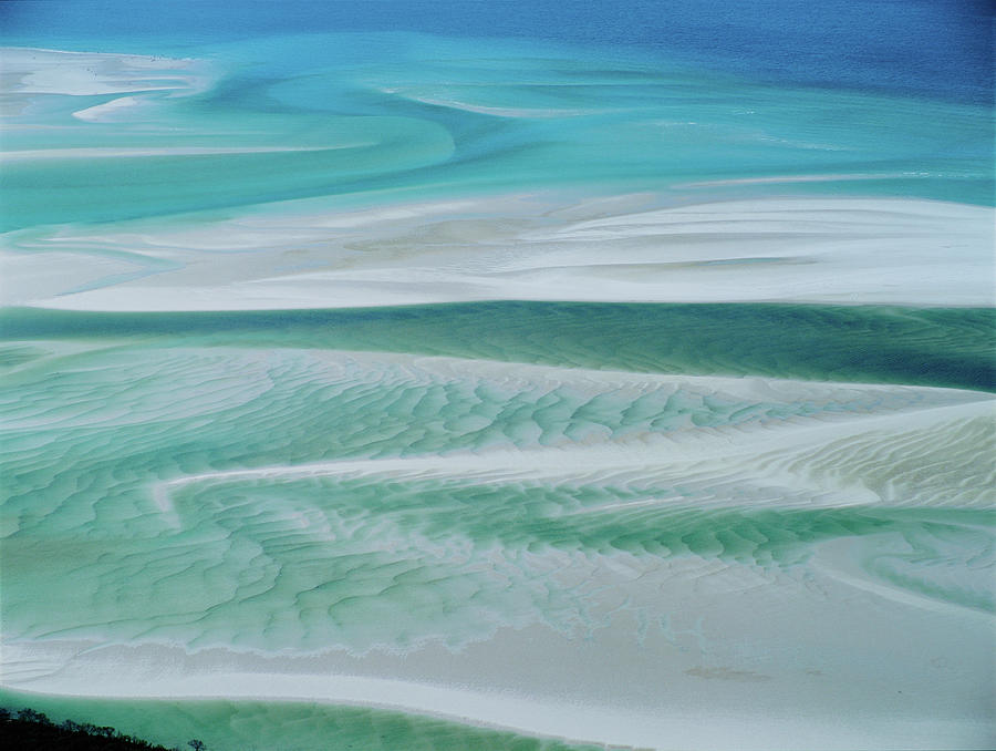Aerial View  Whitsunday Island Photograph by Simon Bruty