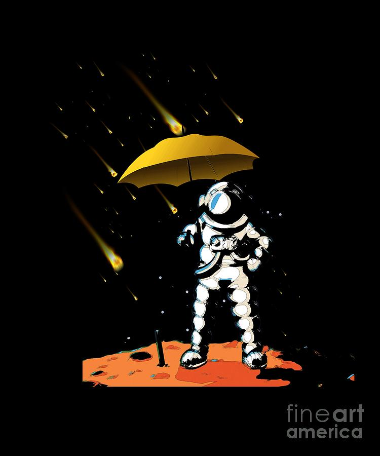 Galaxy Digital Art - Aeronautic Astronaut Meteor Shower Meteorites Galaxy Space Nerd by Thomas Larch