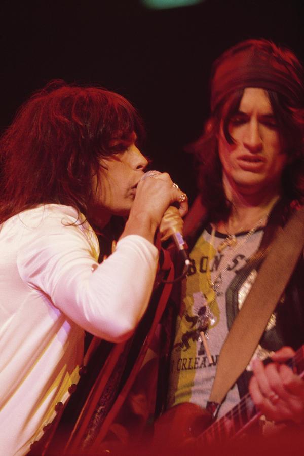 Aerosmith Live Photograph by Fin Costello