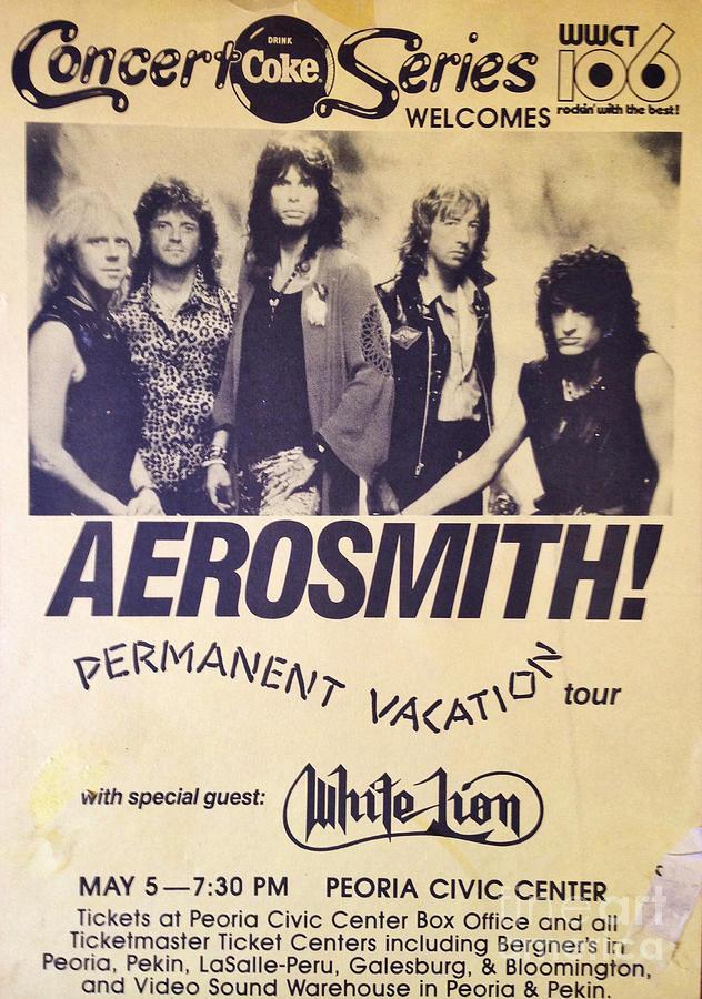 Aerosmith Digital Art - Aerosmith Tour Poster by Steven Parker