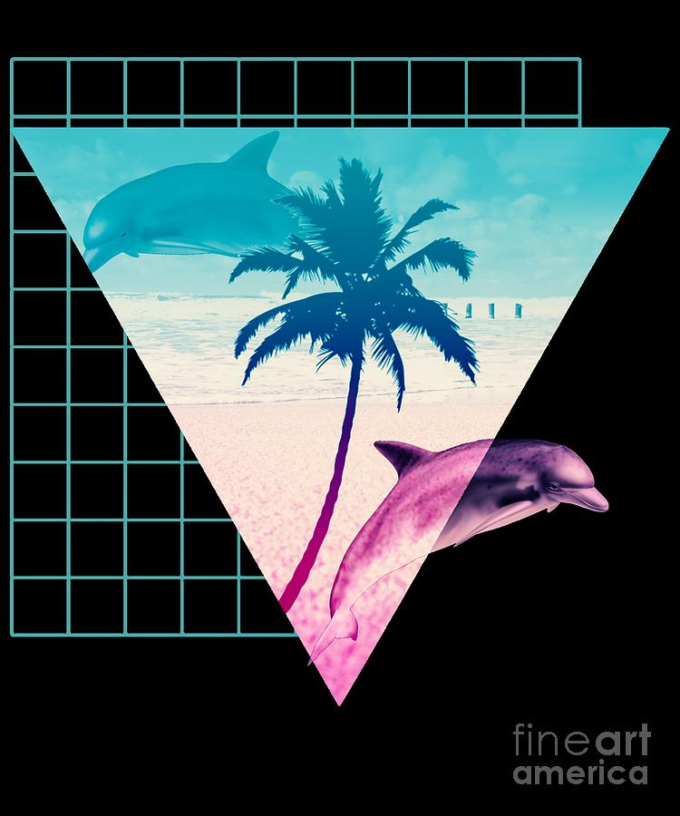 Aesthetic Dolphins 80s 90s Hypnotic Summer Beach Print Design Digital Art By Dc Designs Suamaceir aesthetic dolphins 80s 90s hypnotic summer beach print design by dc designs suamaceir