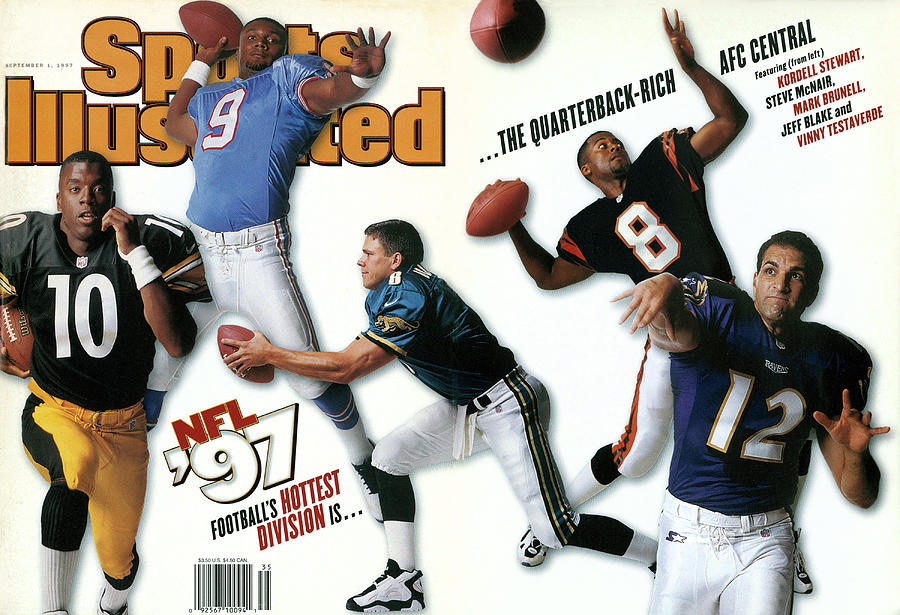Afc Central Quarterbacks, 1997 Nfl Football Preview Issue Sports Illustrated Cover Photograph by Sports Illustrated