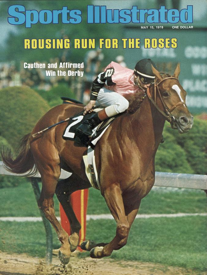 Affirmed, 1978 Kentucky Derby Sports Illustrated Cover Photograph by Sports Illustrated