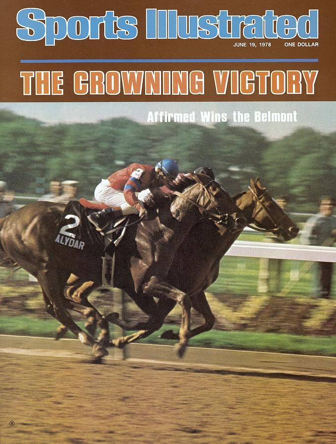 Affirmed And Alydar, 1978 Belmont Stakes Sports Illustrated Cover Photograph by Sports Illustrated