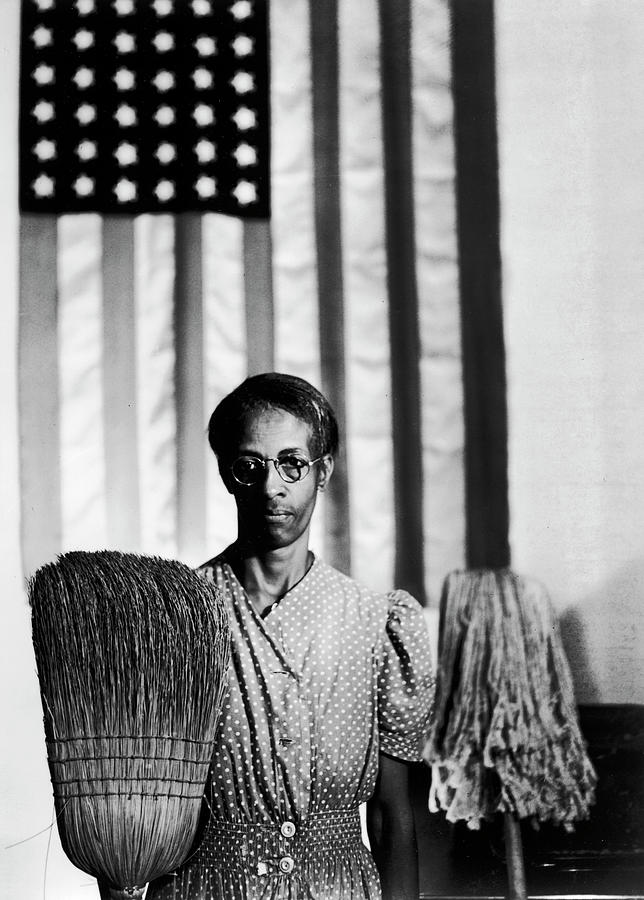 African American Cleaning Woman Ella Photograph by Gordon Parks