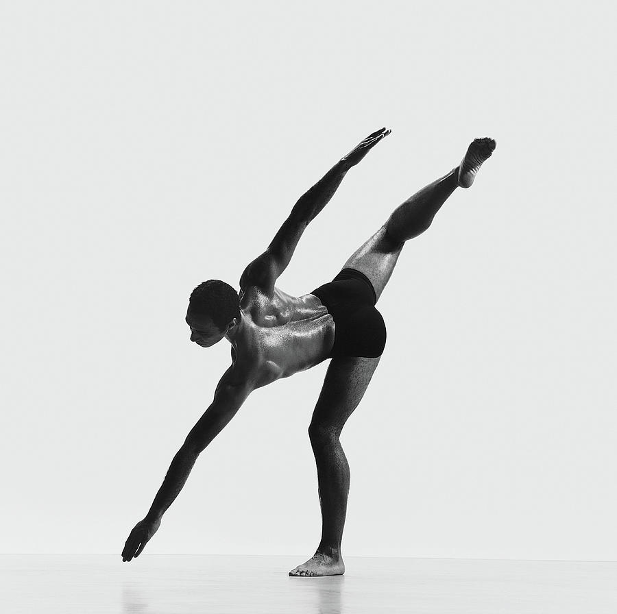 African-american Dancer Standing On One Photograph by Chris Nash