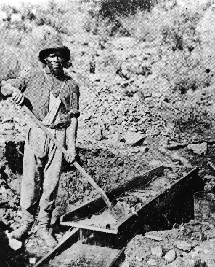 African-american Gold Miner Photograph by Hulton Archive