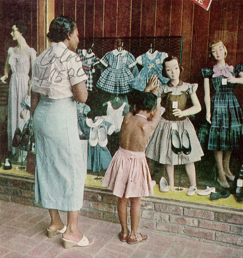 African American Ondria Thornton Window Photograph by Gordon Parks