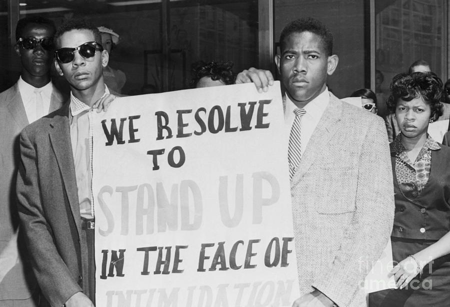 African American Student Demonstrators Photograph by Bettmann
