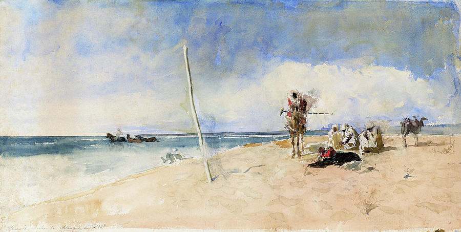 Mariano Fortuny Painting - African Beach - Digital Remastered Edition by Mariano Fortuny
