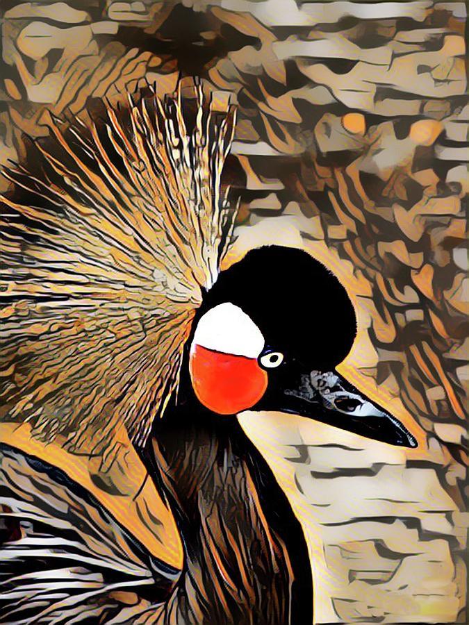 African Crane by Sarah Hanley