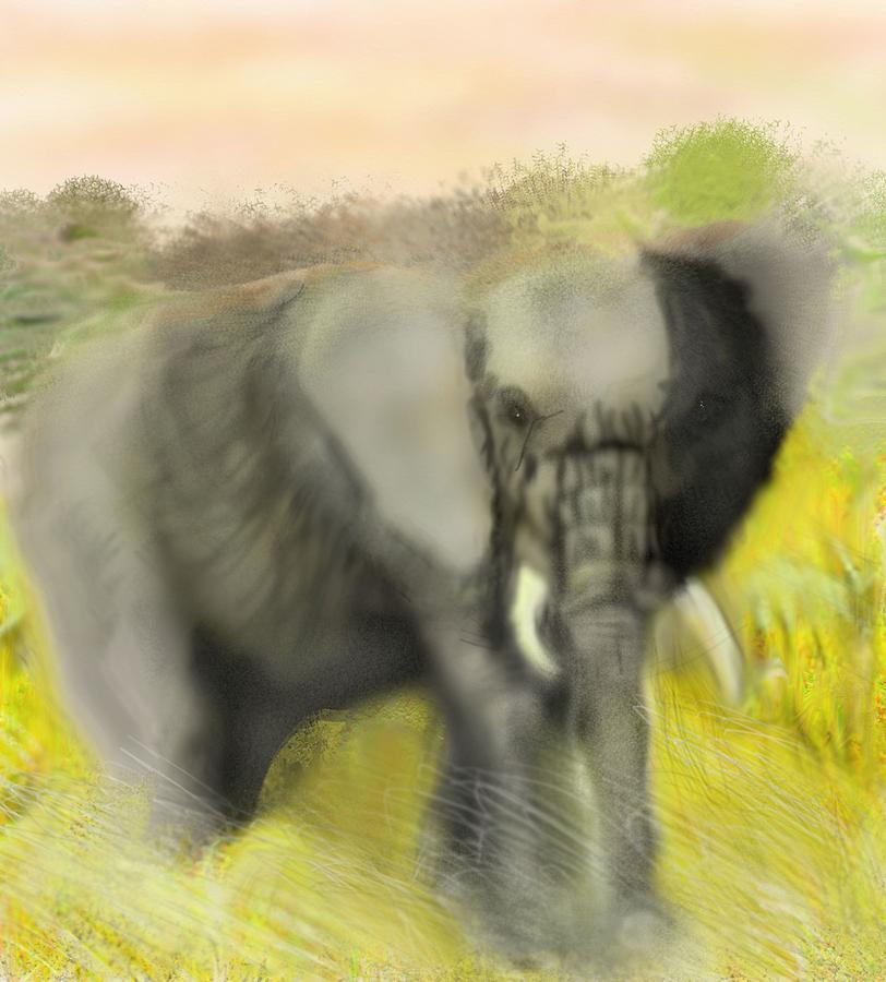 African Elephant by Robert Rearick