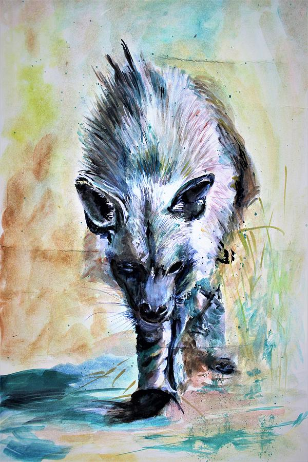 African Hyena by Khalid Saeed