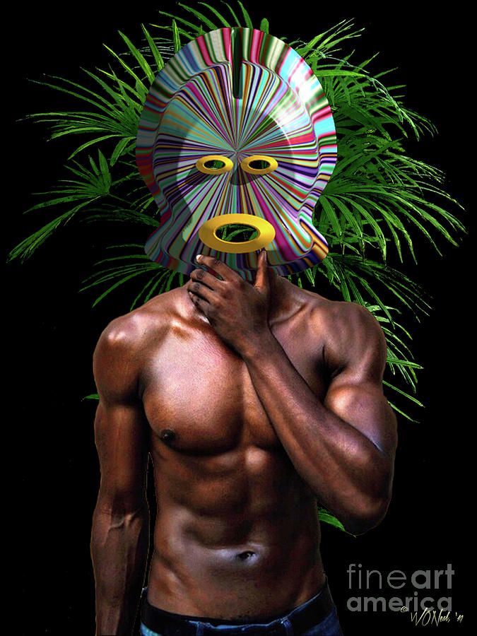 African Masked Man by Walter Neal