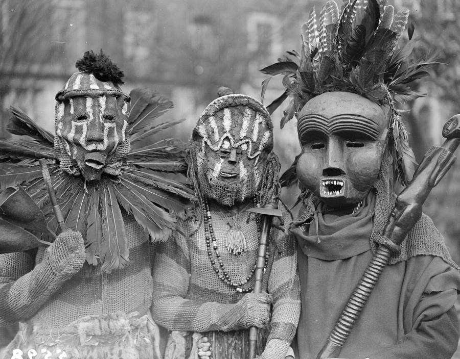 African Masks Photograph by Fox Photos