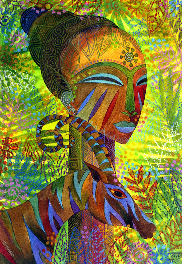 Africa Painting - African Queens by Jennifer Baird