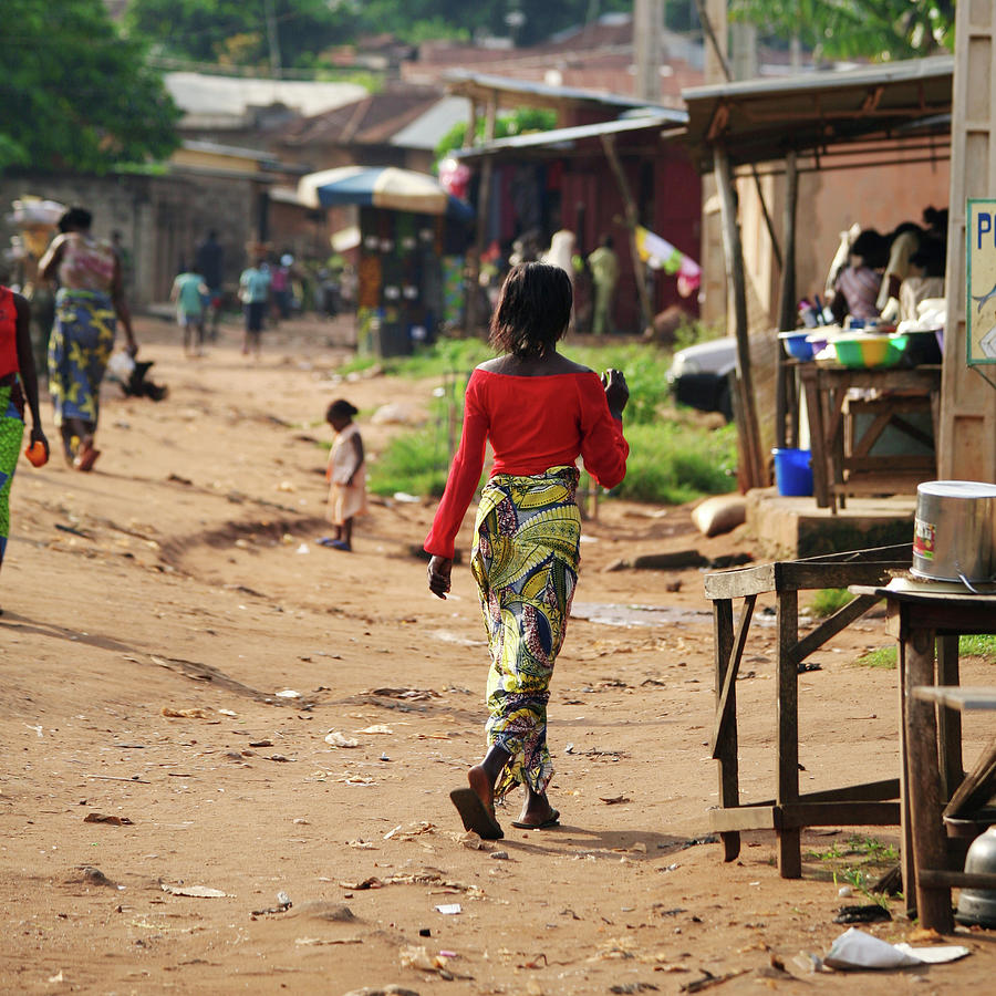 African Street Scene Photograph by Peeterv