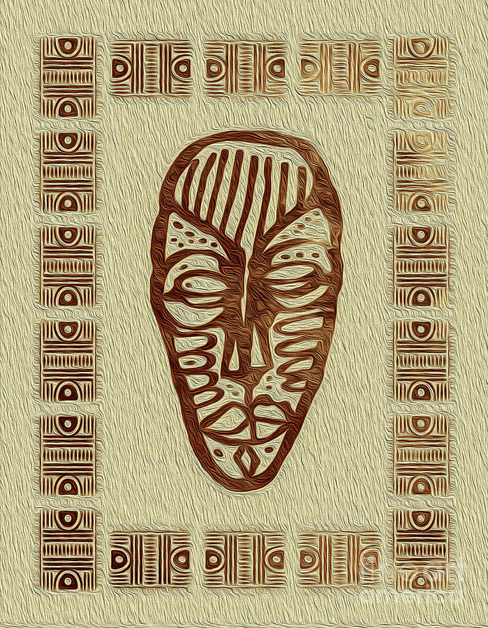 African Tribal Mask Expression 3 by Kenneth Montgomery