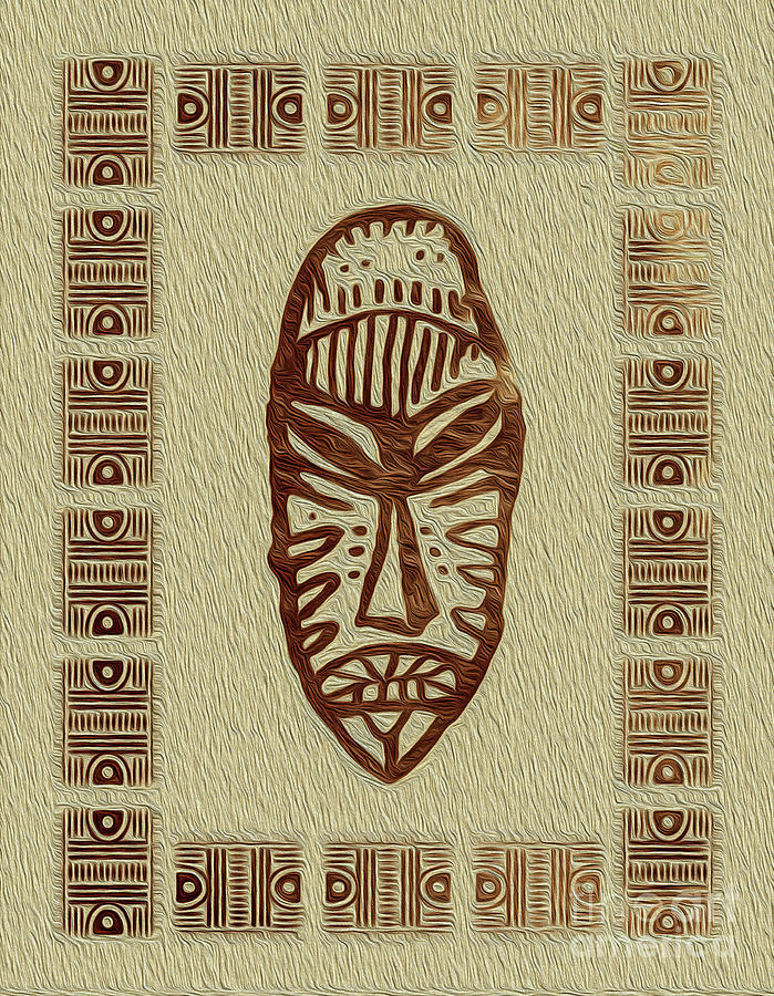 African Tribal Mask Expression 4 by Kenneth Montgomery