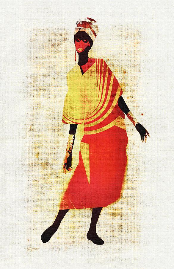 African Woman Digital Art - Africana Lady by Regina Wyatt
