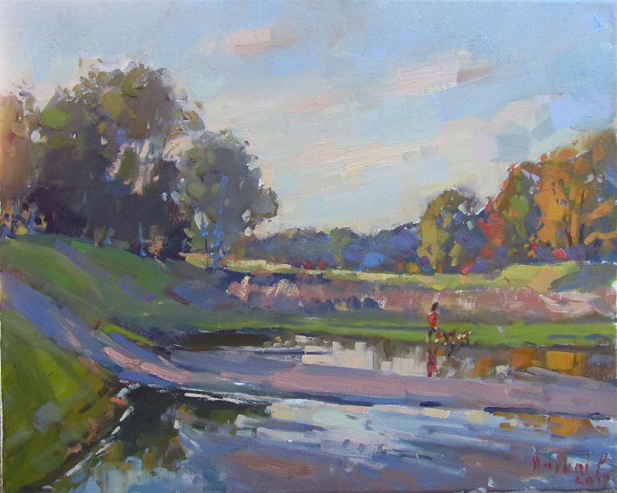 Ellicott Creek Painting - After Rain At Ellicott Creek Park by Ylli Haruni