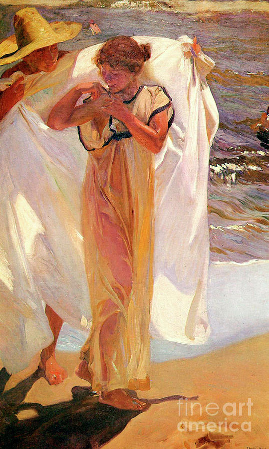 After The Bath, 1908. Artist Joaquin Drawing by Heritage Images